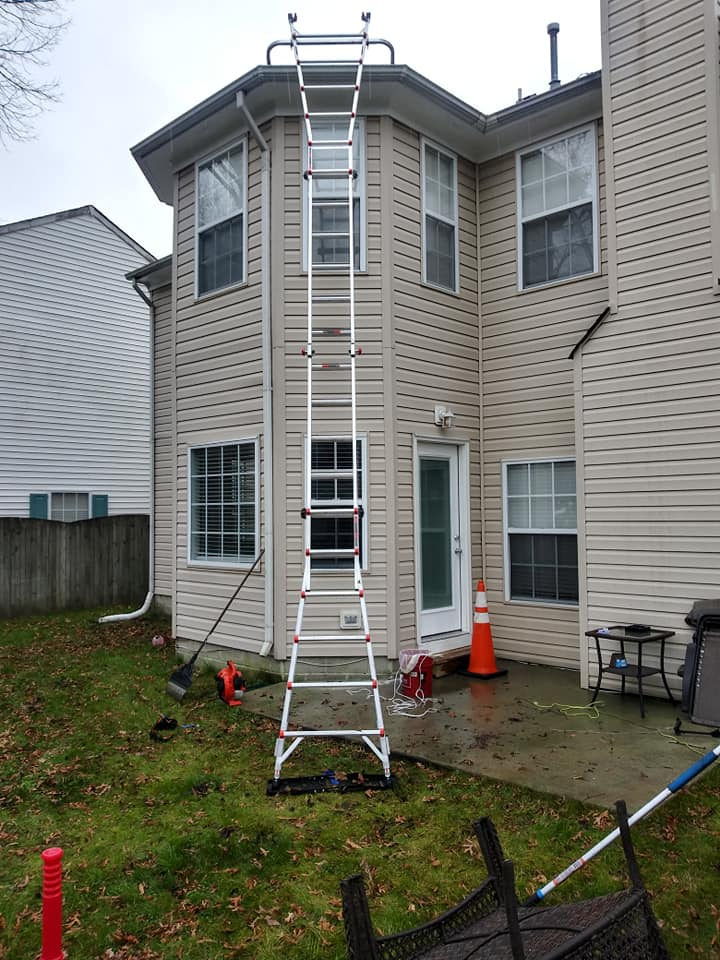gutter cleaning ladder